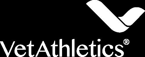 Vetathletics Logo 1c Negativ Weiß Print (quer)